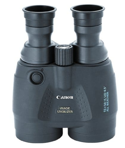 Image stabilized binoculars for whale watching at the beach