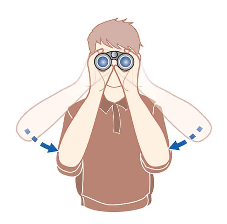 How to use binoculars, how to hold binoculars